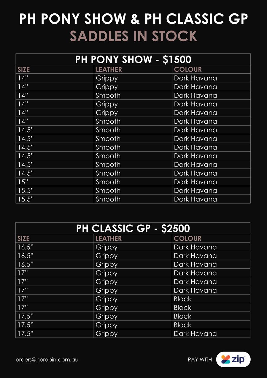 Pony Gp Saddles In Stock June19