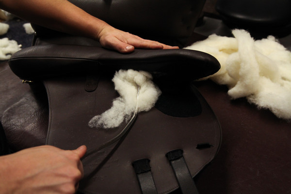Wool Flocked Saddle