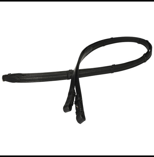 Ph Dressage Reins Childs Black With Stops 3242