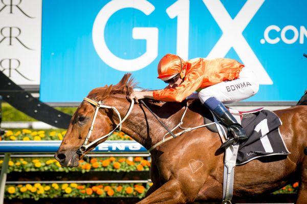 Race5 Terravista Hugh Bowman 03 10 15 G1 Xpremiere Stakes Royal Randwick Win 160