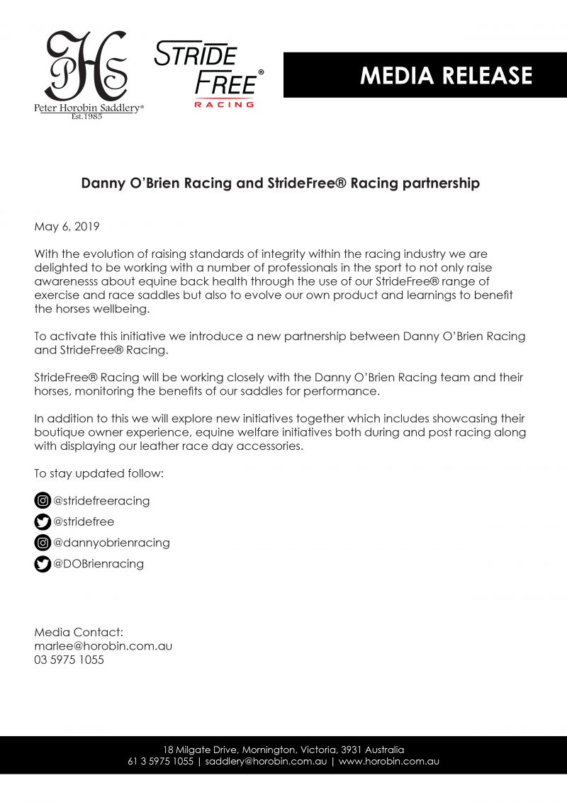 Media Release Danny Obrien Web